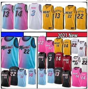 Bam 13 Ado Tyler 14 Herro Jimmy Dwayne Dwyane 3 22 Butler Wade Basketball Jersey 2021 Goran 55 Robinson Kendrick New season Jers jersey