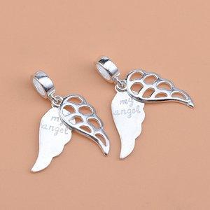 Fit Original Pandora Charm Bracelet 100% 925 Silver Angel Wings Grandma Dad Mum Sister Bead Making Women Memory Berloque 1012 Q2