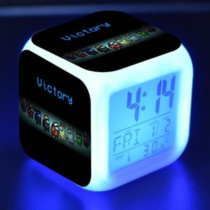 Action & Toy Figures Among Us Game Figurine Model LED Color Touch Light Alarm Clock PVC boys X0121