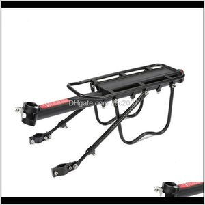 Car Truck Racks Bicycle Lage Carrier Rear Rack Shelf Cycling Seatpost Bag Holder Stand Practical Aluminum Alloy Bike Cargo Pannier Too Q0Ci1