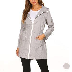 Sports Yoga Jacket Ladies Fashion Windbreaker Jackets Gym Clothes Women Autumn Winter Slim Zip Closure Long Hooded Coat Hoodies