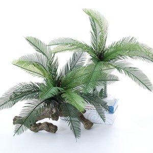 Palm Tree Artificial Flowers Plastic Fake Plant Bouquet For Jungle Party Apartment Decorations Faux Foliage Decorative & Wreaths