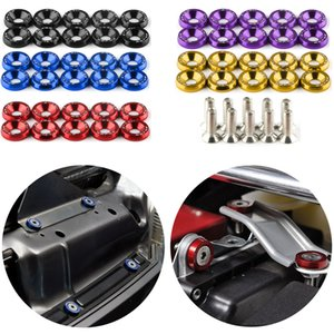Fender Washer JDM Style Fit Any 6mm Hole Bumpers Engine Dress Up License Plate Aluminum Washers with Bolts JDM Accessories
