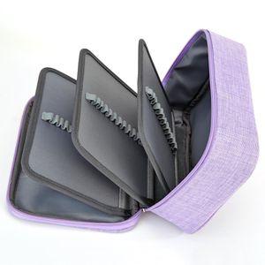 2 Colors Portable Pencil Case Creative Zipper Multi-layer Makeup Storage Bag School Supplies Stationery Box Kids Gift 21x15x8cm