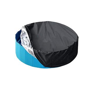 Pool & Accessories 40# Swimming Washable Waterpoof Round Cover Fit Foldable Anti-dust Sunscreen Poolcover