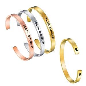 Mon Amour Braclet из нержавеющей стали Моя любовь годовщина подарок для мужа или жены / парня подруги подарки браслеты
