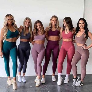 Yoga Tracksuits Sets Running Lulu Breathable Solid Tights +leggings Vest Fitness Women's Clothes Gym Clothing Top Sportswear Pants Sexy Vqnm