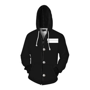 Anime CostumesGhost Slayer Peripheral Clothing 3d Digital Printing Hooded Zipper Sweater Casual Cardigan Halloween Carnival Uniform Surprise cosplay