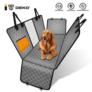DEKO Dog Car Seat Cover View Mesh Pet Dogs Carriers Carrier Hammock Safety Protector Rear Back Mat With Zipper And Pocket For Travel