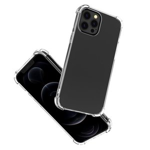 For iPhone 12 mini Pro Max XS 11 Clear Cases Soft TPU 1MM Anti-shock Back Cover 200pcs up