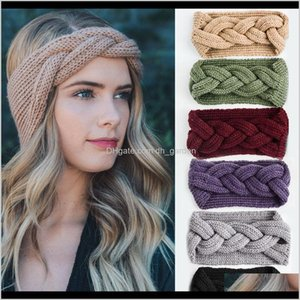 Jewelry Drop Delivery 2021 Headband Knitted Headwrap Bands Women Fashion Crochet Acrylic Variegated Headbands Autumn Winter Warm Girls Hair F