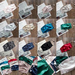 Double-layer Silk Mask Woman Mulberry Silk Sunscreen Dustproof Face Mask Washable Reusable Face Masks CYZ3075