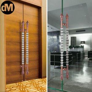 Handles & Pulls DM 2pcs Set (ONE PAIR) Super High-End Luxury Rose Gold Crystal Ball Door Handle Gate El KTV Shopping Mall Entrances