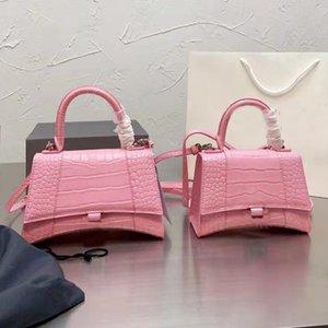 Luxury designer hourglass bag ladies crocodile pattern shoulder bag leather ladies handbag presbyopia wallet messenger backpack