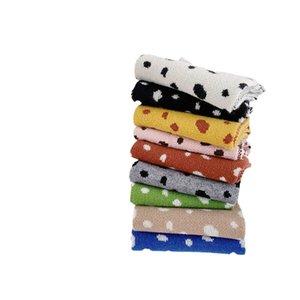 Kids Scarves Children Scarf Baby Ring Boys Girls Accessories Autumn Winter Keep Warm Leopard-Print Knitted Wool B8952