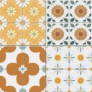 Yellow floret tiles 300x300mm kitchen balcony anti slip tiled floor small fresh restaurant wall tile
