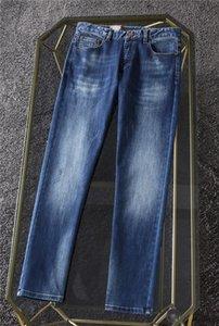 Llegada Diseñador Bolsos Luxurys Mens Jeans Estilo de otoño Slim-Leg Jean Moda Hombres Pantalones Negocios Pantalones de ocio Negocios Tamaño de la UE W29-W40