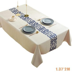 Table Cloth Stain Resistant PVC Dining Room Rectangle Home Decoration Thickened Wedding Banquet Waterproof Oilproof Dinner Party