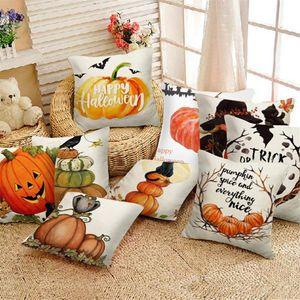 Pillow Case Sofa Party Home El Decoration Halloween Pumpkin Throw Cover Pillowcases Decorative Cushion
