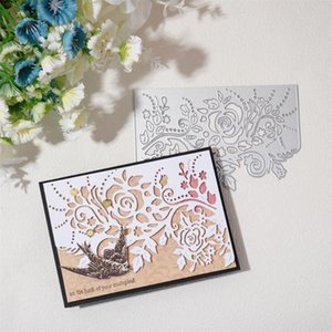 Painting Supplies Lace Border Metal Cutting Dies For Card Decorative Greeting Crad Edge Hollow Stencil Frame Diy Scrapbooking Knife Mold 202