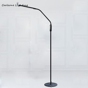 Modern LED Floor Lamp Nordic Eye Protection Piano Lamps For Living Room Bedroom Standing With RC Reading Stand Light