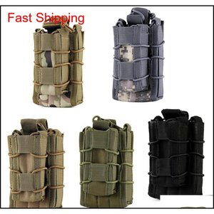 Multifunction Bags Backpacks Gear Edc Molle Tactical Open Top Double Decker Single Mag Magazine Outdoor Camping Hiking Waist Bag Tool