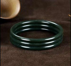 Article 56-60 mm xinjiang hotan jade round jade bracelet free ship ping