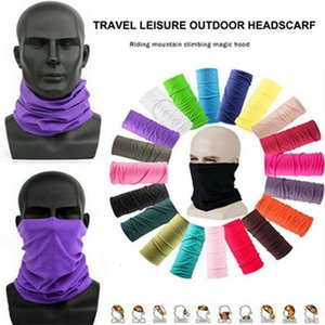 Cycling Solid Magic Seamless Scarves Head Face Protective Mask Unisex Neck Gaiter Outdoor Sports Biking Tube Bandana Wristband Scarf I T3NW