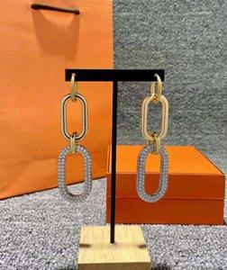 Каменные серьги для леди женщины мода дизайн свадьбы женская вечеринка подарок ушной диск высокого качества с марками