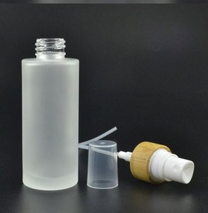 50ml Frosted Clear Glass Bottle with Bamboo Lid Cap Perfume spray cosmetic