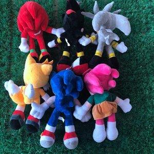 28см Прибытие Sonic Toy The Hedgehog Хвосты Кнушки Эчидна Фаршированные животные Плюшевые игрушки Подарок