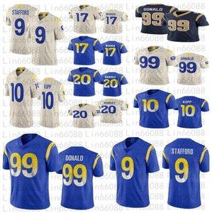 Männer Frauen Jugend 99 Aaron Donald Fußball 9 Matthew Stafford 20 Jalen Ramsey 10 Cooper Kupp 17 Robert Woods Trikots