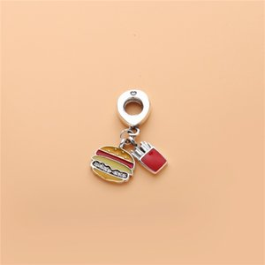 Fashion charm small pendant for Pandora jewelry 925 sterling silver with original box ladies cute fun small ornaments birthday gift 779 T2
