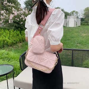 Luxury Girls clouds quilted handbags fashion kids triangle metals chain single shoulder bags with purse women PU leather messenger bag A7917