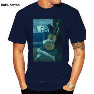 Baskılı Shirtsmen Best Friend O Boyun Eski Gitarist T Gömlek Boyama Pablo Picasso Adam Kısa Kollu Gömlek Tarafından