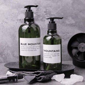250 500ML Liquid Soap Dispenser Shampoo Shower Wash Bottles Empty Press Refillable Plastic Bathroom Storage