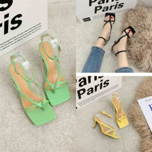 i8JBE Sandals designer Espadrilles sandal Women Sandals Woman Pointed high women quality Shoes Mouth Heel Lace Up WomenSummer
