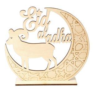 Ramadan Wooden Decor Islamic Muslim EID MUBARAK Home Ornament DIY Hollow Moon Star Sheep Party Decoration Festival Event RRD7469