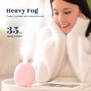 Small Deer Mini Air Humidifier Ultrasonic Fog Steam Mist Maker Essential Oil Aroma Diffuser For Home Car Pink White Humidifiers