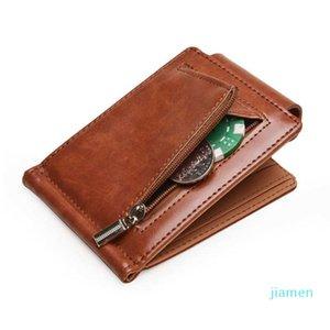 Designer- Wallets Pu wallet fashion short money clip certificate bag men's