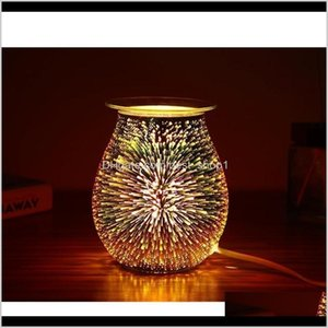 Fragrance Lamps Fragrances Décor Home Garden Drop Delivery 2021 Essential Air Aroma Oil Electric 3D Aromatherapy Diffuser Wax Melt Warmer Gla