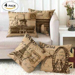 France, Paris, Places of Interest, Linen, Fine Pillow Case, Cushion Cover Ym093