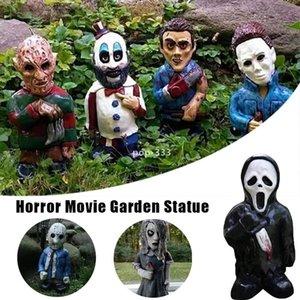 Horror Movie toy 15cm Garden Gnomes Decorative Killer Gnome Ornament Undead Halloween Sculpture Outdoor Patio Lawn GWA8551