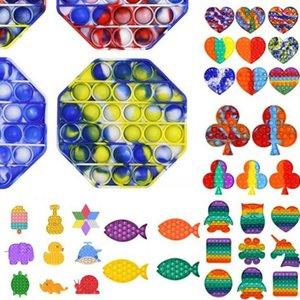 Express Push Pop Fidget Party Favor Toy Bubble Sensory Autism Special Needs Stress Reliever It Squeeze for Kids Family 700 Q2