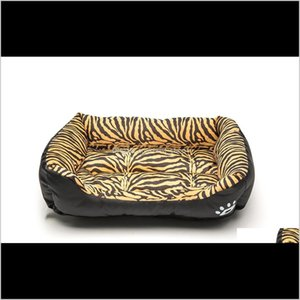 Kennels Pens Cat Dog Bed Waterproof Mat Soft Warm Sleeping Beds Leopard Print House Cushion For Dogs Durable Nest Kennel Pet Accessori Q5Nrp