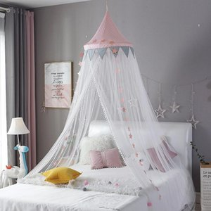 Baby Room Mosquito Net Kid Bed Curtain Canopy Round Crib Netting Tent Baldachin Decoration Girl Bedroom Accessories Dropship
