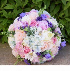2018 Fashion Romantic Outside Wedding Flowers Bridal Bouquets Artificial Bridesmaid Flower Bouquet Wedding Bouquet For Flower Girls