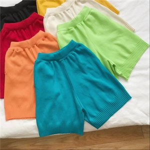 Women Shorts Net red fashion loose summer tide wearing straight high waist was thin knitted casual