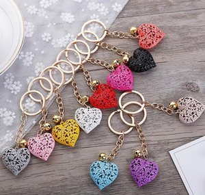 Accessories Drop Delivery 2021 20Pcslot Wholesale Hollow Heart Fashion Charm Cute Purse Bag Pendant Car Keyring Chain Ornaments Gift Keychain