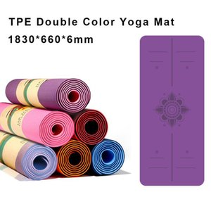 Yoga Mats 1830*660*6MM Anti-Slip Double Color Mat For Beginner Protect Joint Odorless Fitness Gym Fast Delivery Can Accept Design